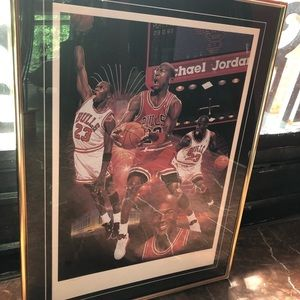 Other - Official Autograph Michael Jordan Framed Poster